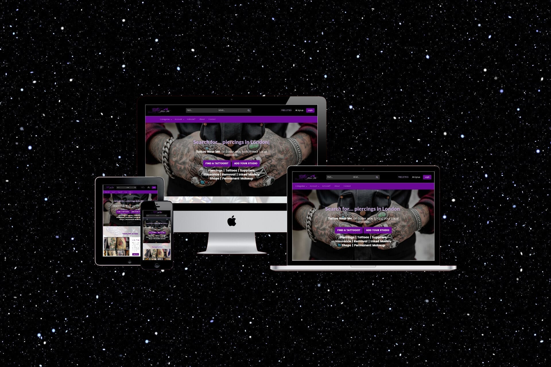 Website Designers 4U - Web Design for Tattoo Business Directories