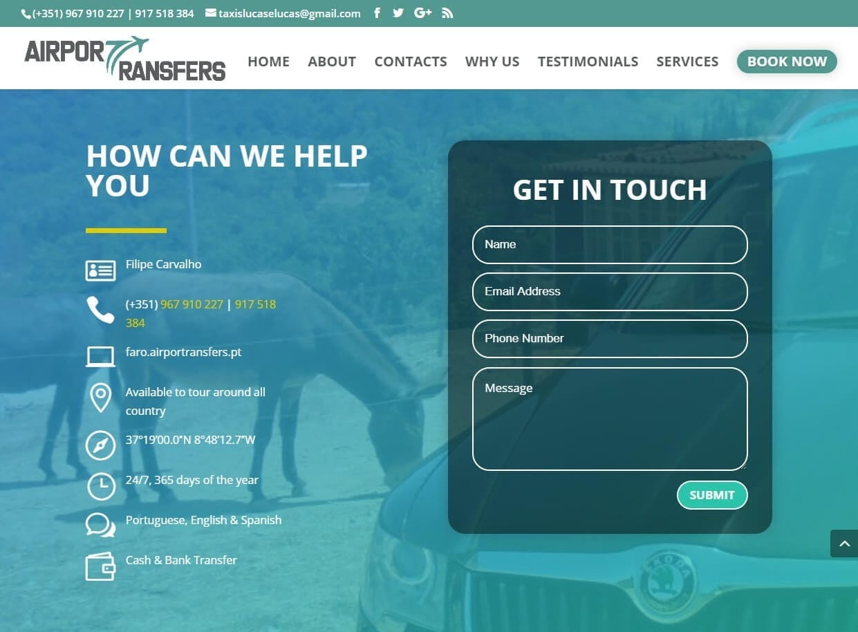 Website Designers 4U - Web Design for Airport Transfers