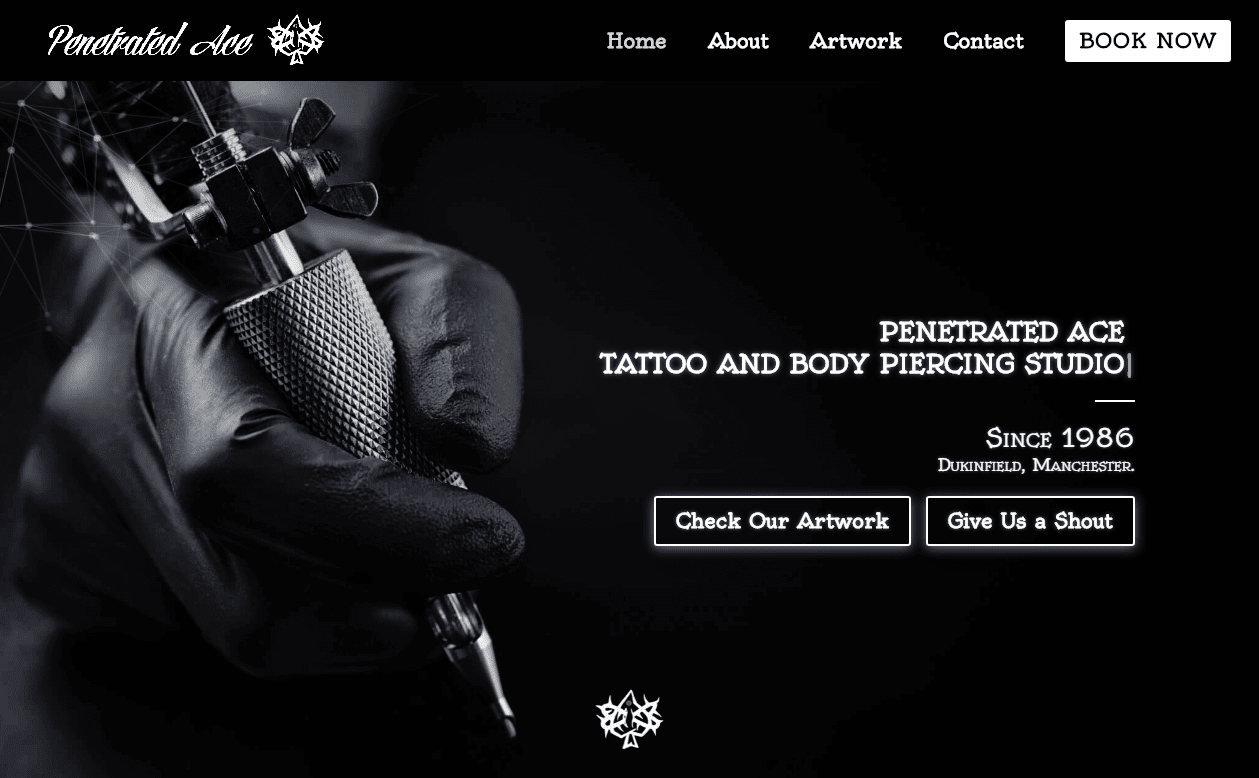 Website Design for Tattooists