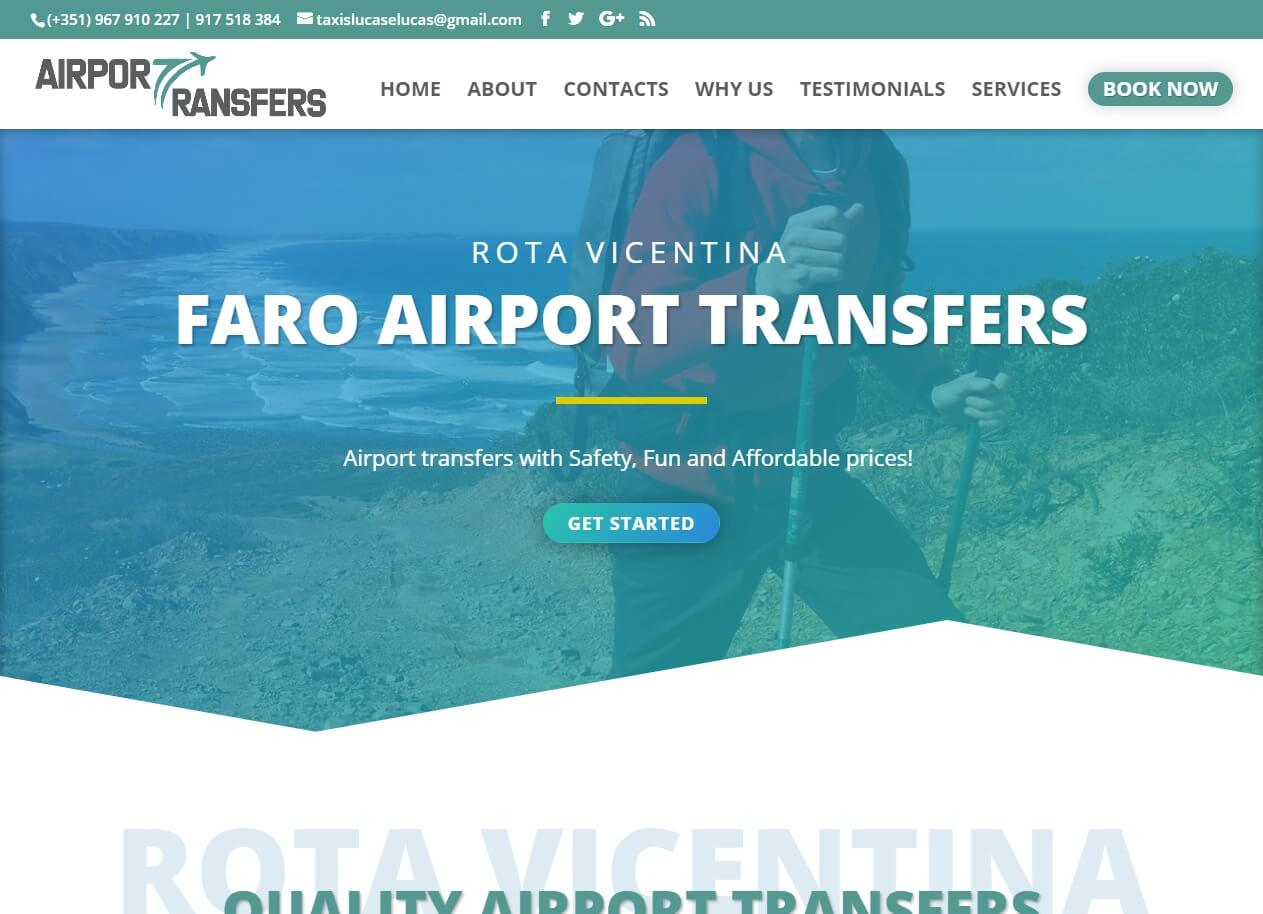 Website Design for Airport Transfers Service